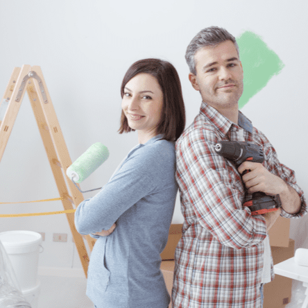Couple starting their home improvement franchise