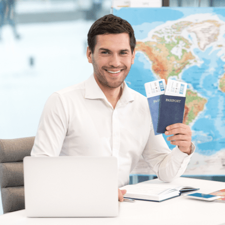 Male travel agent